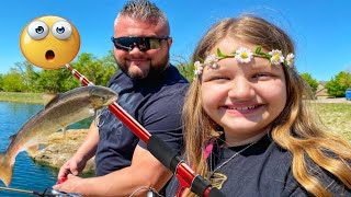 FIRST TIME FISHING! WE CAUGHT WHAT?! NOT WHAT WE EXPECTED!