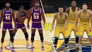WOULD THE SHOWTIME LAKERS SWEEP THE 2017 GOLDEN STATE WARRIORS? NBA 2K17 GAMEPLAY!