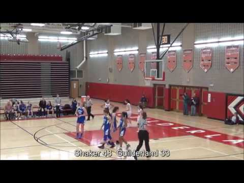Game Highlights Girls' Varsity: Shaker 64 vs Guilderland 54 (F)