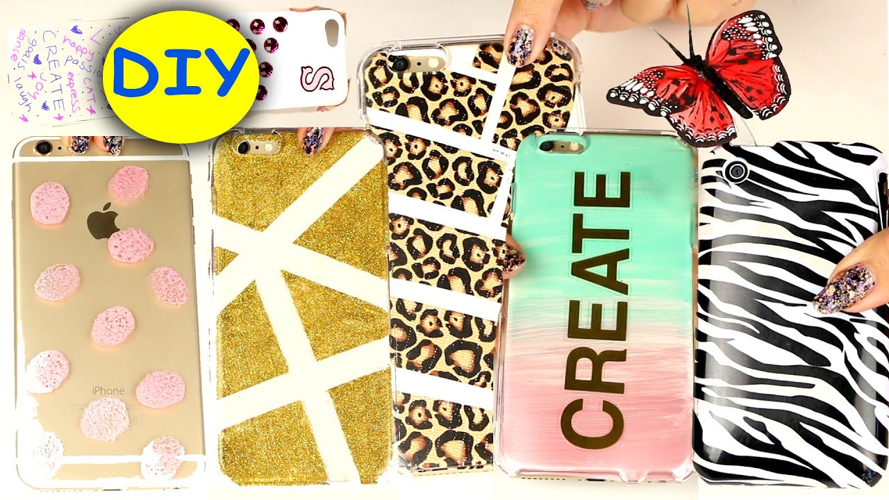 20 diy phone cases easy diy cell phone case youtube for How to make phone cases at home