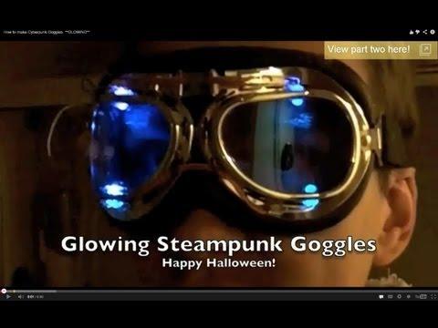 How to make Cyberpunk Goggles  **GLOWING**