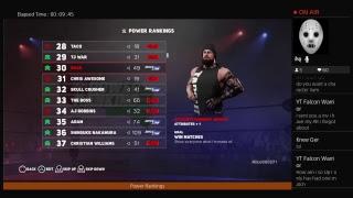 WWE 2k18 Universe mode Power Rankings : week of 6/24/18