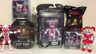 Five Nights at Freddy's Funtime Freddy Sister Location Figure Mystery Minis Blind Bags Toy Opening