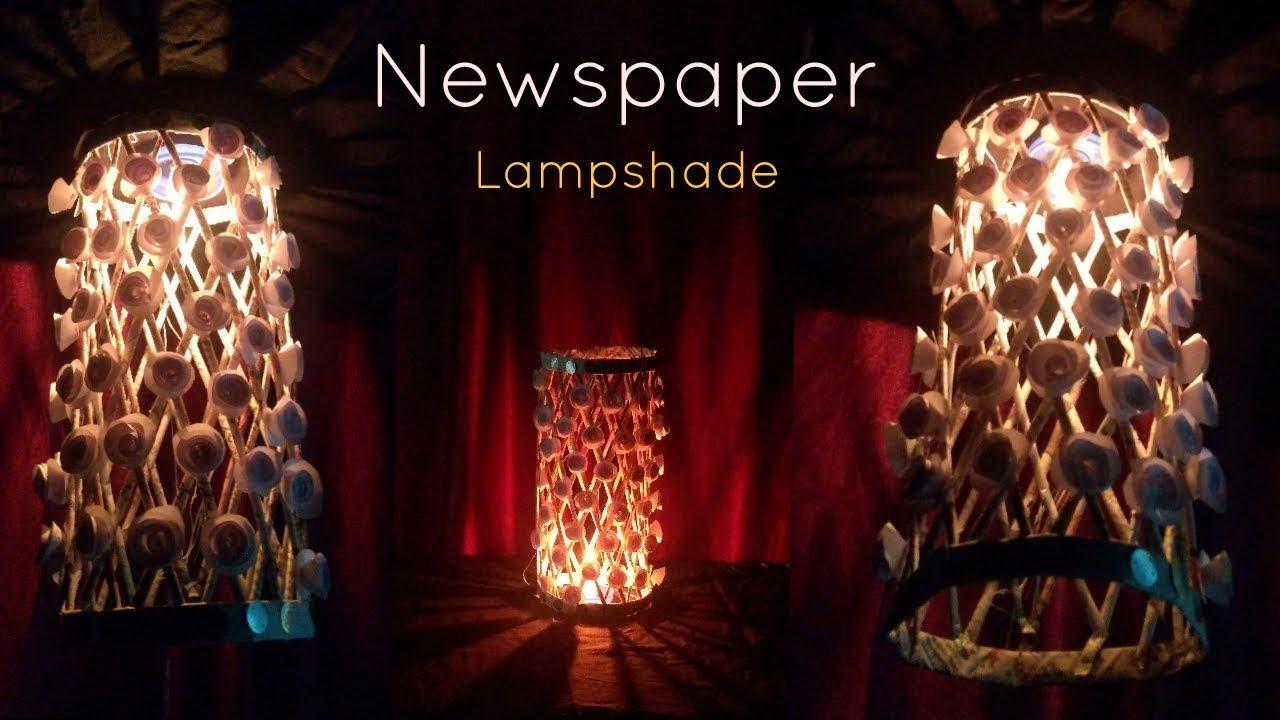 Diy ii how to make an elegant lampshade using newspaper very easily diy ii how to make an elegant lampshade using newspaper very easily diwali decorations aloadofball Images