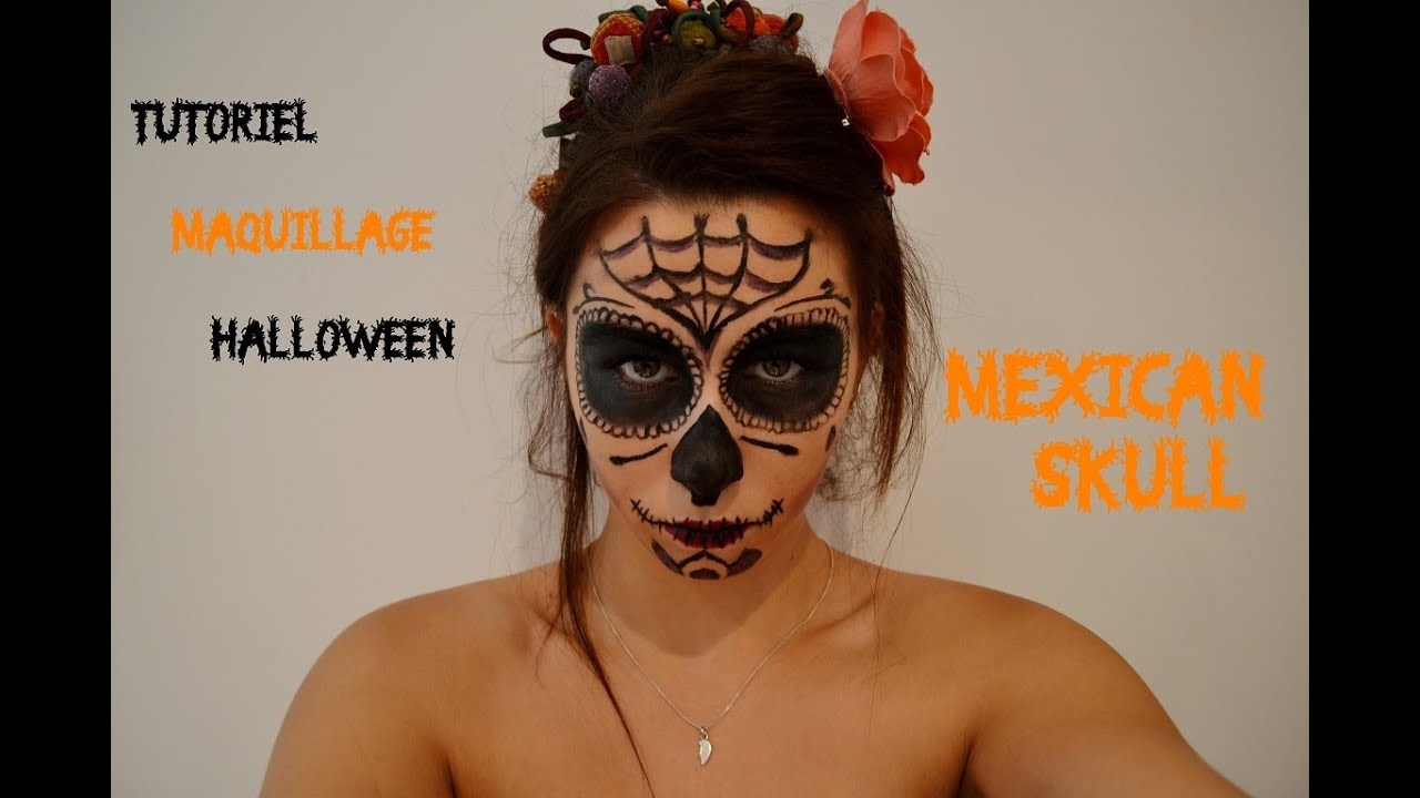tutoriel maquillage halloween mexican skull youtube. Black Bedroom Furniture Sets. Home Design Ideas