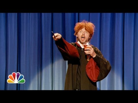 Drunk Ron Weasley Sings Happy Birthday To Harry Potter Late Night with Jimmy Fallon