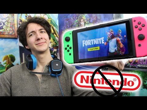 Nintendo Hater Plays Fortnite On Switch