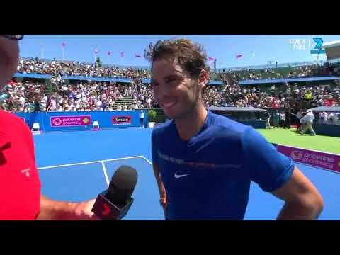 Rafael Nadal Post-match interview at the 2018 Kooyong Classic Exhibition