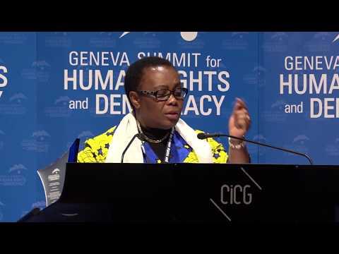 Julienne Lusenge at Geneva Summit 2018