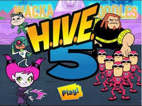 Teen Titans Go ! - H.I.V.E 5 - Teen Titans Games - YouTube