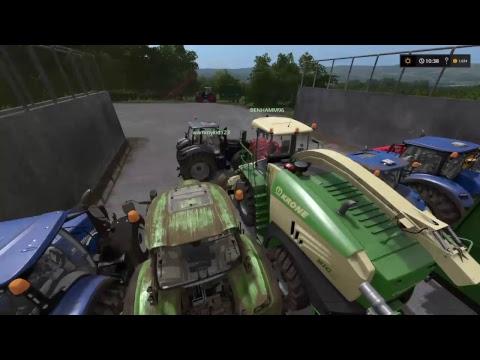 Farming simulator 17 Raking and chopping On Sandy Bay  for BenHamm96