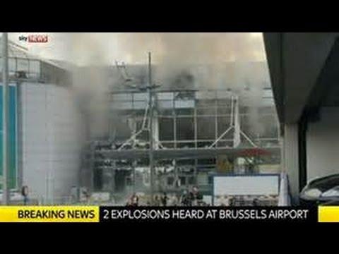 Terrorist attacks Brussels Belgium Airport & Metro Station rush hour Breaking News March 2016