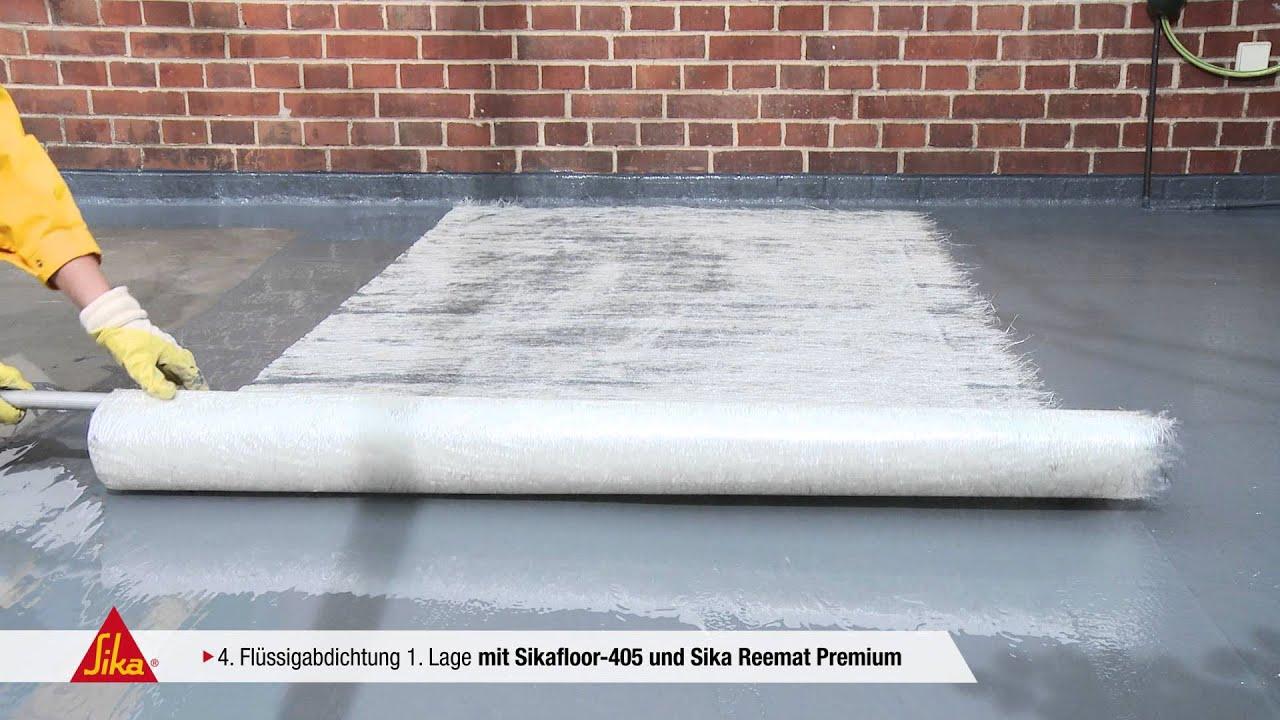 sika premium balkon system sikafloor 405 youtube. Black Bedroom Furniture Sets. Home Design Ideas