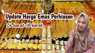 HARGA EMAS 24 Karat 2020 || NEW Update Harga Emas Perhiasan Kadar 999 750 700 420 & 375 || Per TGL 7
