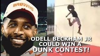 Could Odell Beckham Jr WIN an NBA Dunk Contest? SICK DUNKS by OBJ Video