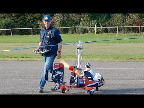 RC AUTOGYRO MTO SPORT GIANT SCALE RC GYROCOPTER FLIGHT DEMO / RC Airshow  Hausen am Albis 2015