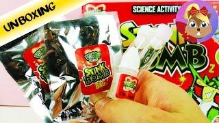 Stink Bomb 炫酷 趣味 DIY 科学 实验 化学 物理 臭蛋 爆炸 鸡蛋 自制 生活 套装 玩具组 开箱 展示