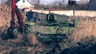 Единственный в Украине Земснаряд-шнекоход Screw-propelled Dredger at work(, 2016-03-04T20:58:50.000Z)