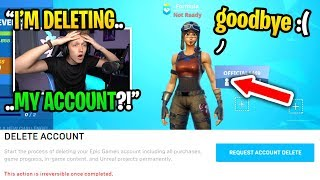 I was forced to DELETE my Fortnite account because of THIS... (goodbye)