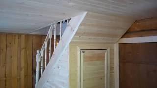 деревянная лестница за 10000р(как можно сделать бюджетную лестницу., 2016-05-28T08:20:33.000Z)