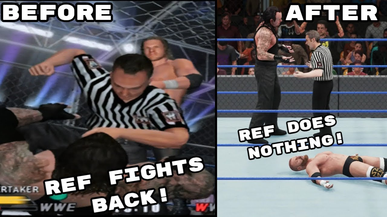 The Difference Between Attacking Referees In Old Wwe Games New Wwe Games