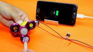 Free Energy Mobile Chargr Using Fidget spinner - Free Energy Mobile Phone Charger at Home