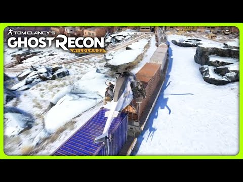 LANDING A HELICOPTER ON A TRAIN   Ghost Recon Wildlands Solo Free Roam