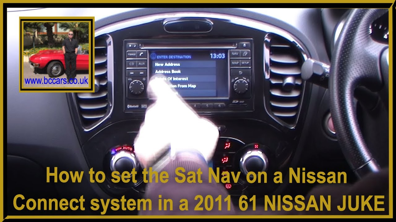 How to set the Sat Nav on a Nissan Connect system in a
