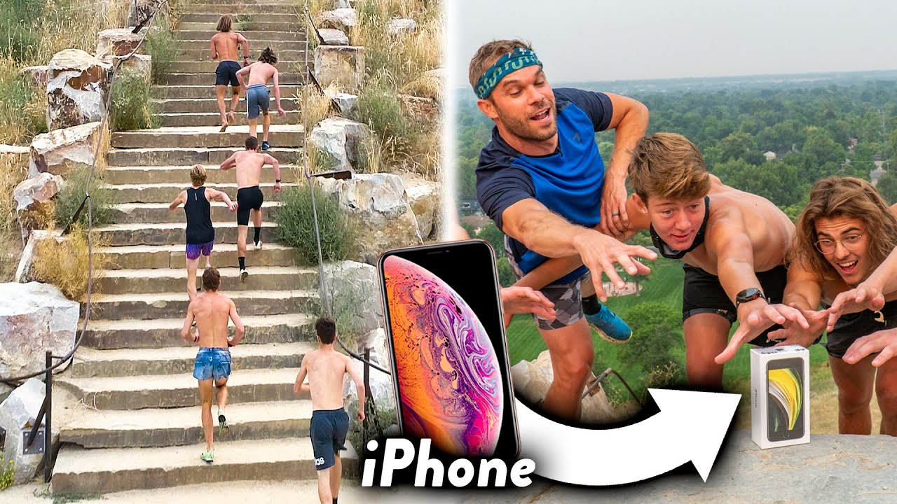 EPIC Race Up Mountain vs. Subscribers, Winner Gets a FREE iPhone!!