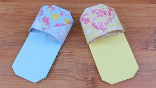 How to Make Easy Origami Slippers | DIY Origami Slippers Easy Tutorial | 5-Minute Crafts
