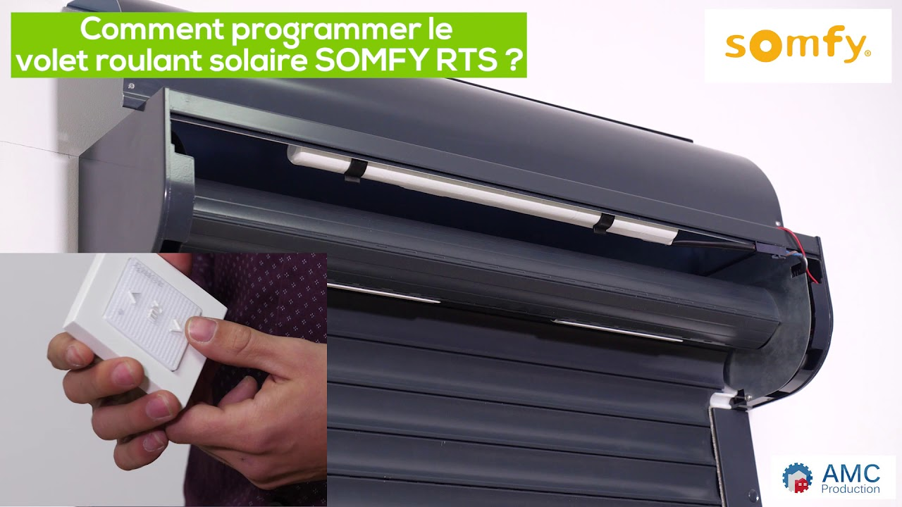 Comment Programmer Le Volet Roulant Solaire Somfy Rts Youtube