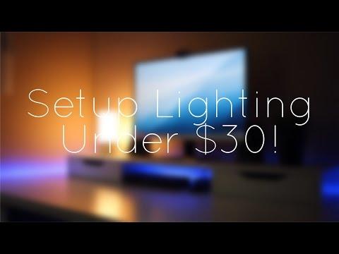 Best Setup Lighting Under $30!