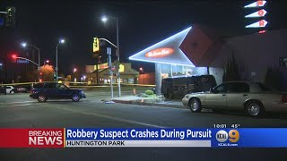 3 Injured When Pursuit Suspect Flips Vehicle Outside Norm's Restaurant, Barely Missing Window