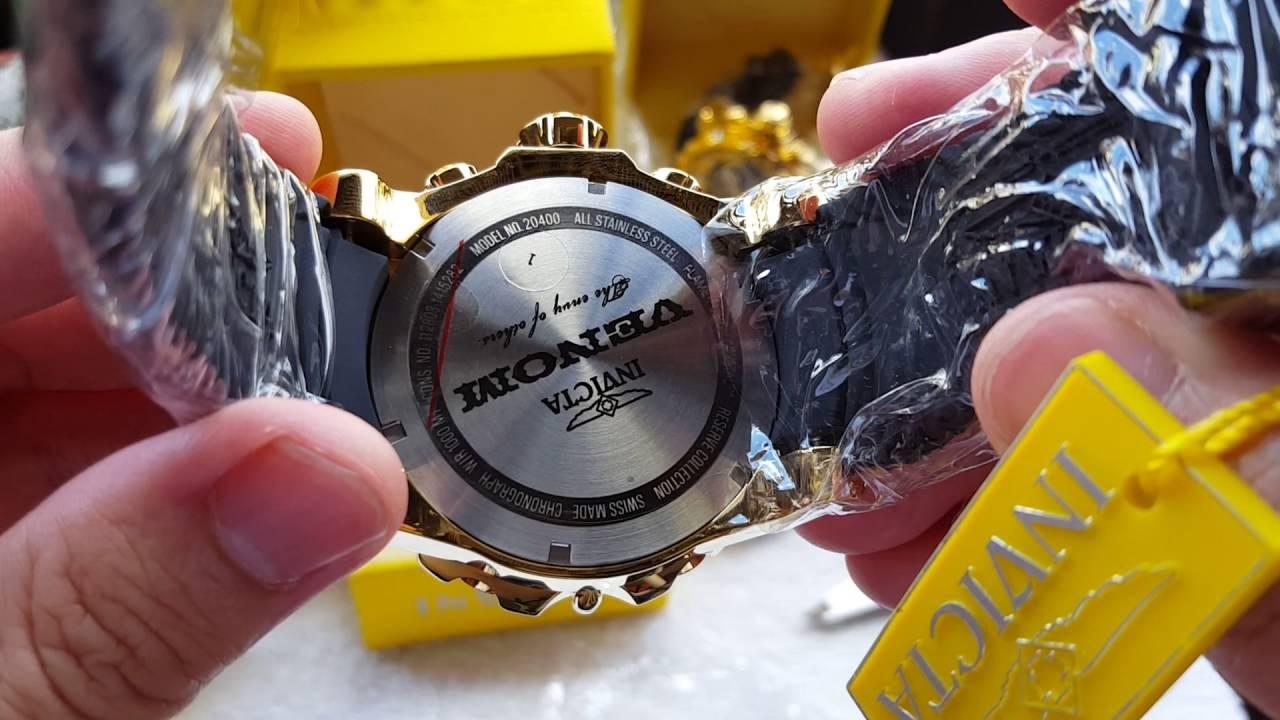 a5324aeea4b Relógio invicta venom cronógrafo suiço referência 20400 original é na  altarelojoaria - YouTube