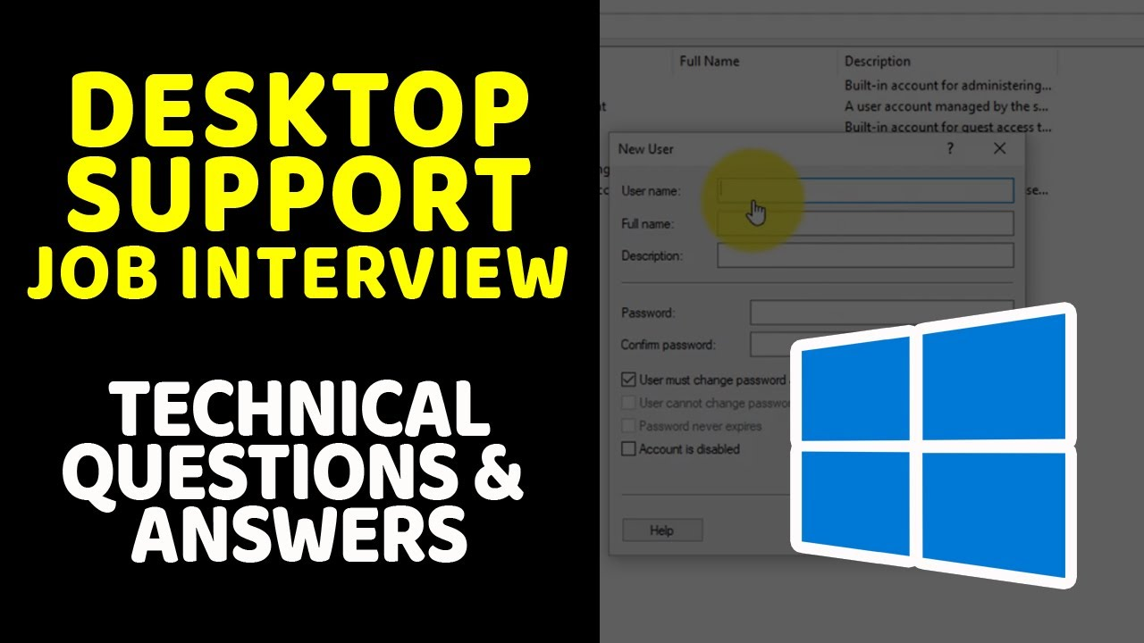 Download Desktop Support Job Interview: Technical Questions and Answers