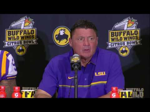 Buffalo Wild Wings Citrus Bowl Press Conference: LSU