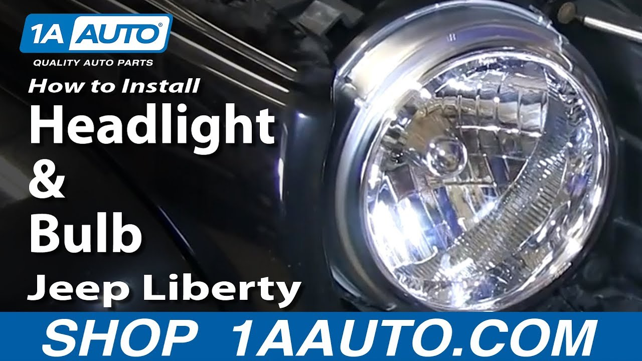 How To Install Replace Change Headlight And Bulb 2002 04 Jeep Cherokee Xj Aftermarket Fog Lights Liberty