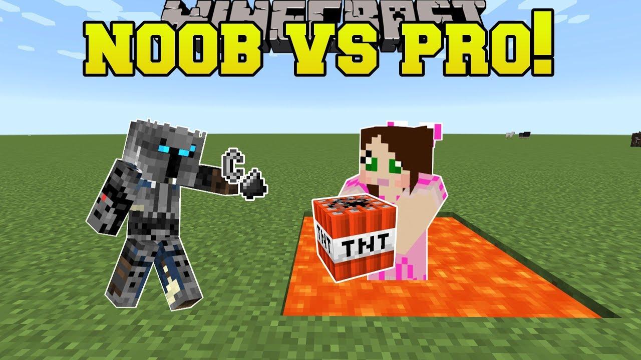 Minecraft: NOOB VS PRO TNT TAG Mini Game YouTube