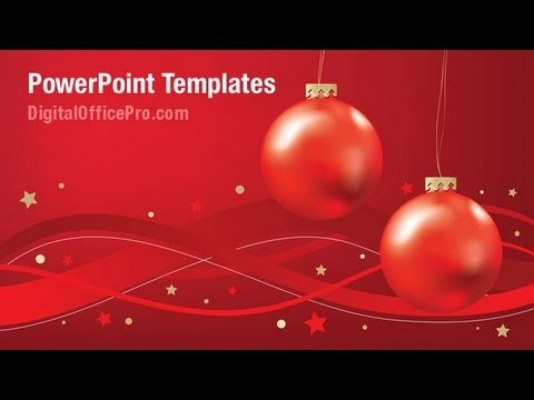 Christmas Ornaments Powerpoint Template Backgrounds