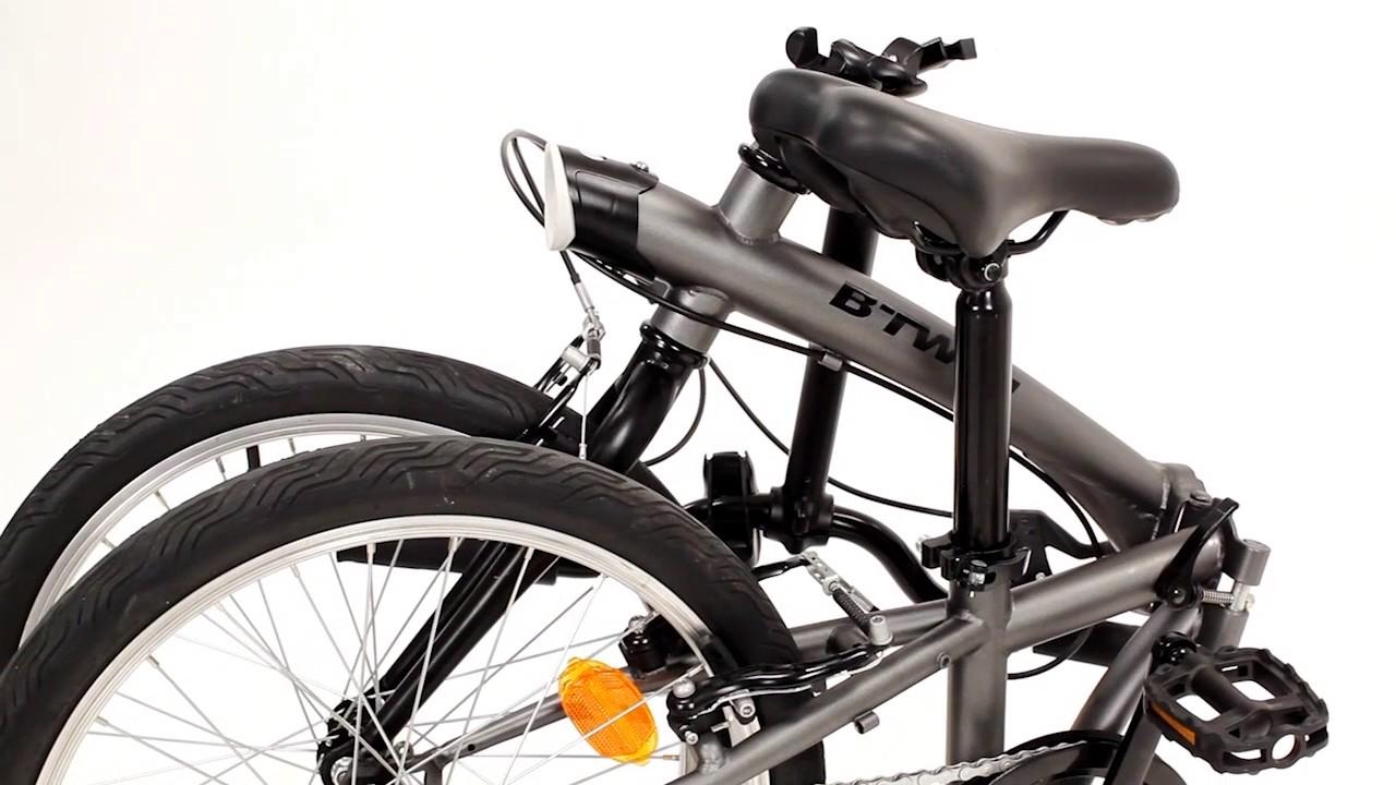Bici Pieghevole Decathlon B Fold.Prakticke Skladaci Kolo Tilt 100 B Twin Youtube