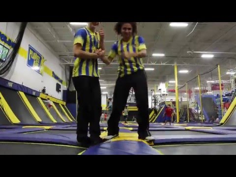 Our Employees showing their Trampoline skills at Planet Air Sports!