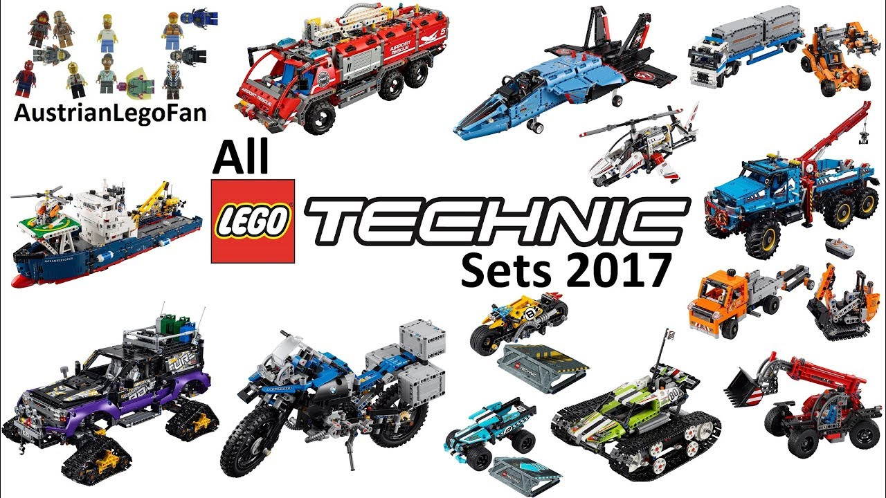 All Lego Technic Sets 2017 Compilation Sd Build Review