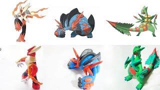 Pokemon Clay Requests #2: Mega Blaziken, Mega Swampert , Mega Sceptile