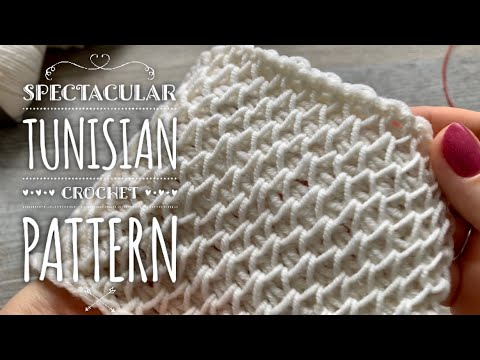 Узор соты тунисским крючком