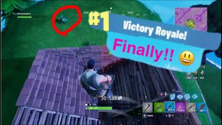 My Very First Win In Fortnite Battle Royale!