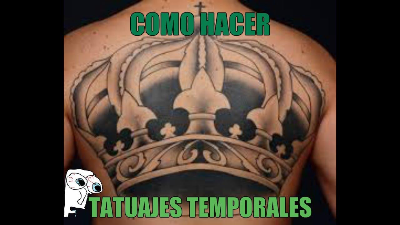 Tatuajes Temporales Badabun como hacer tatuajes temporales para hombre - youtube