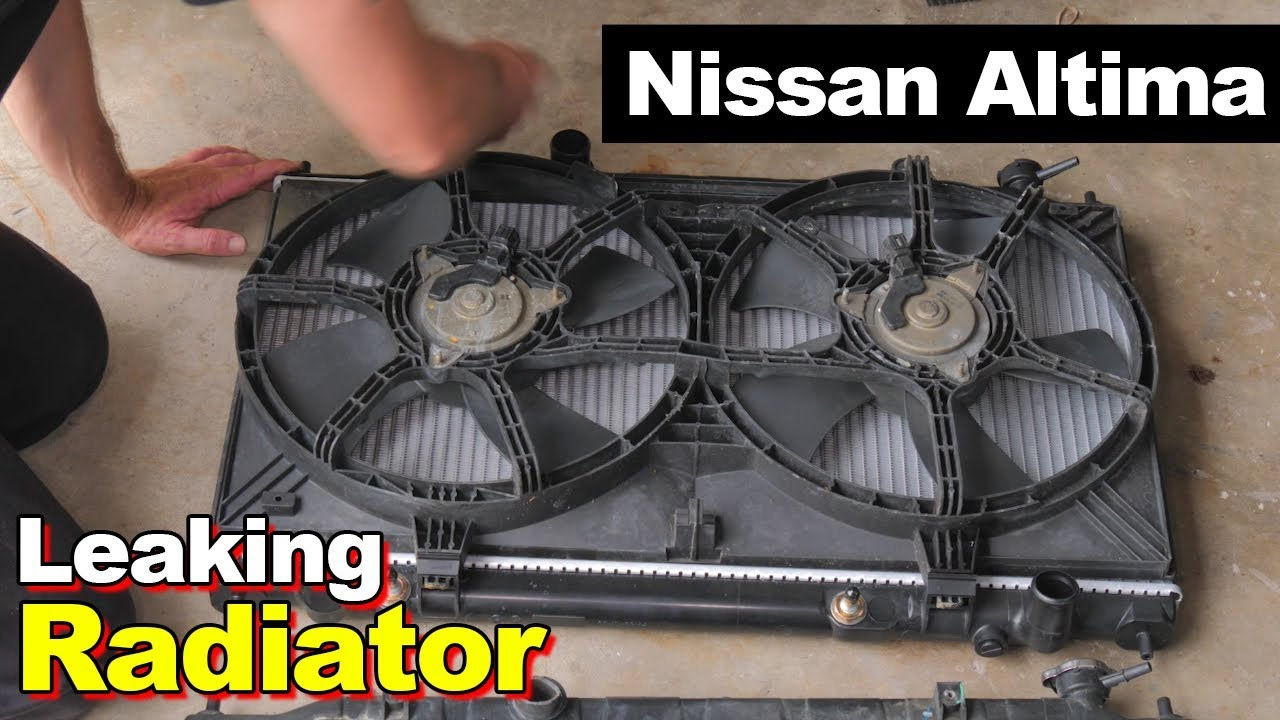 hight resolution of 2005 nissan altima leaking radiator cooling fan same as v6