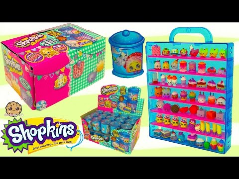 Shopkins Food Fair Candy Jar Blind Bag Full Box Unboxing Season 1 , 2 , 3 Exclusive Colors Video