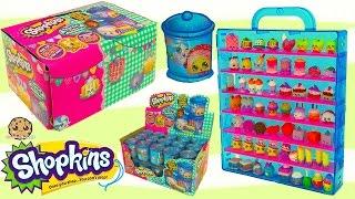 Shopkins Food Fair Candy Jar Blind Bag Full Box Unboxing Season 1 , 2 , 3 Exclusive Colors Video