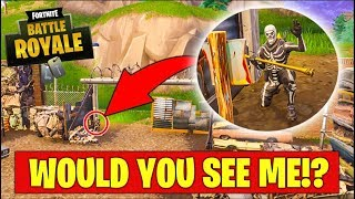 HOW DID HE NOT SEE ME!?! HIDE & SEEK in Fortnite Battle Royale